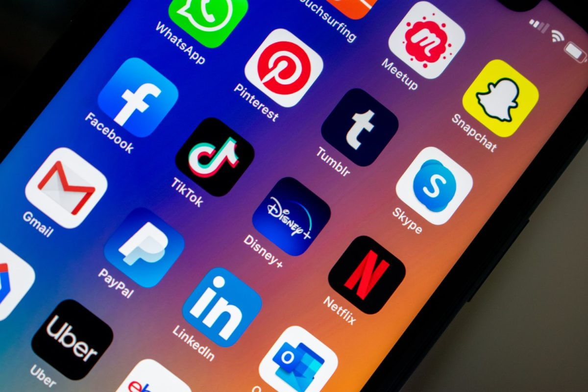 Photo of social app icons on an iPhone, part of the Single Origin Media guide to social media advertising during covid-19